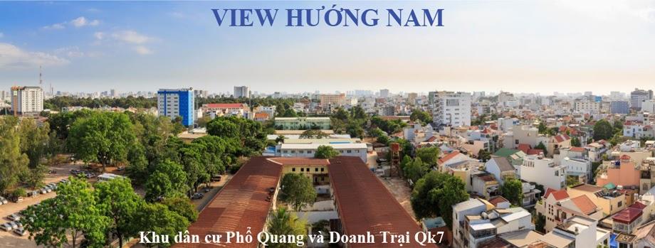 view huong Bac can ho botanica premier