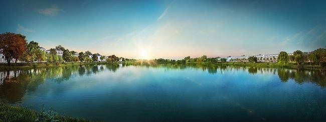 hồ sinh thái 3.6 ha dự án Lakeview CIty