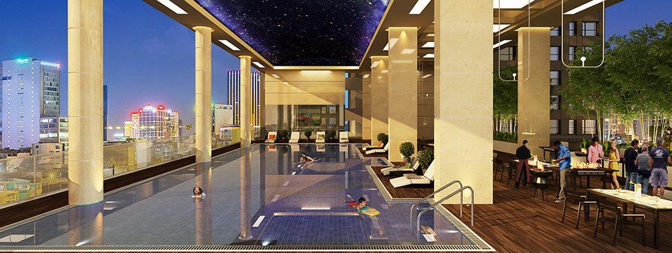 hồ bơi căn hộ galaxy 9