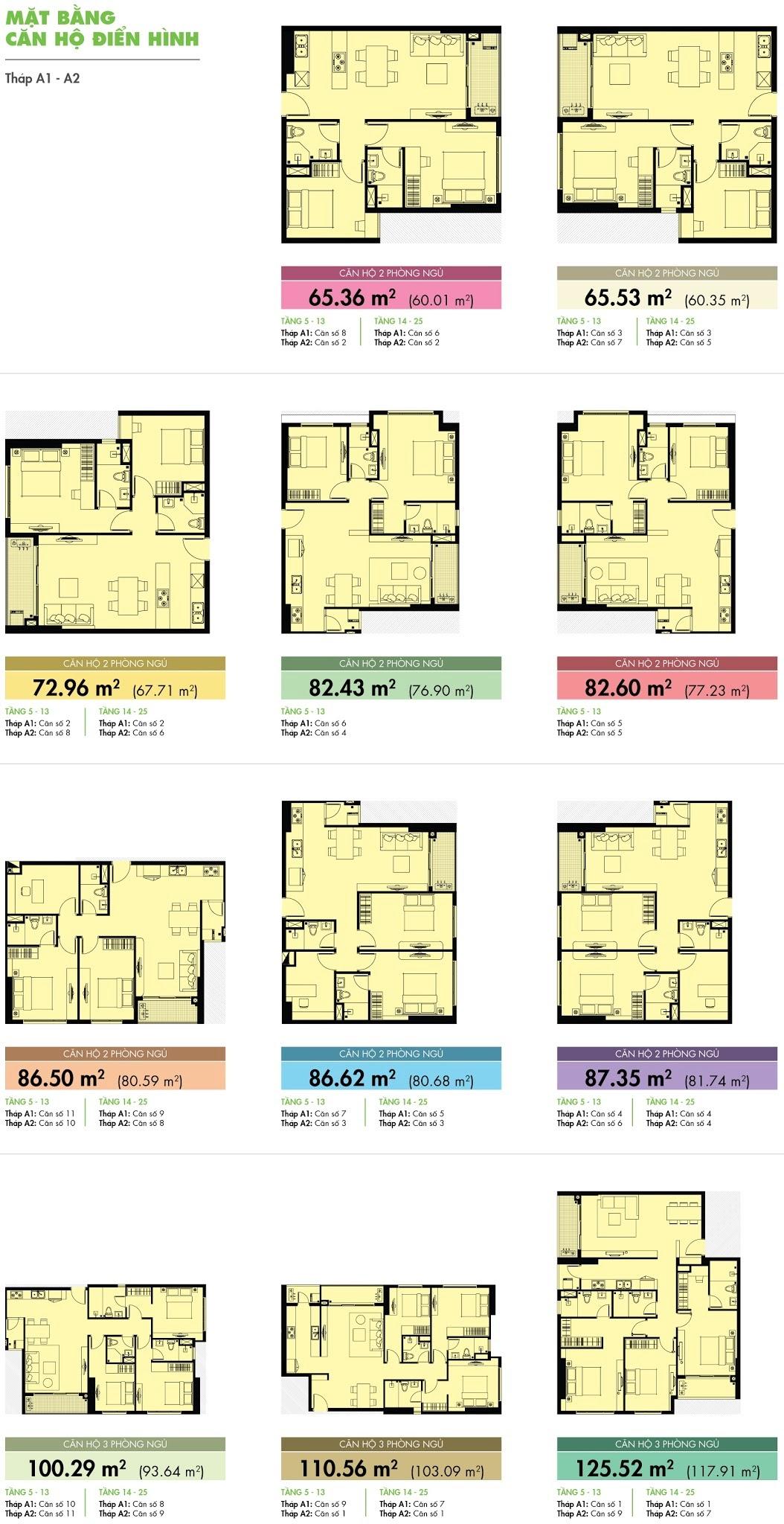 Mặt căn hộ Tropic Garden block A1 & A2