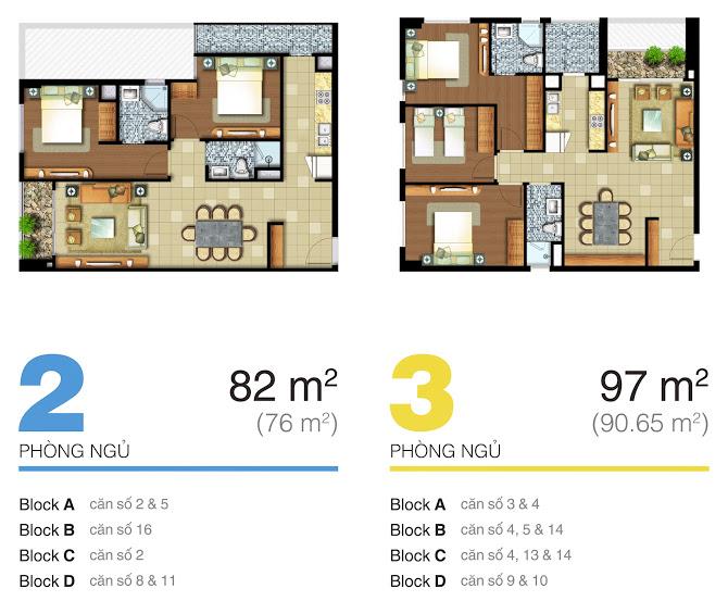 mặt bằng căn hộ lexington 82m2-97m2