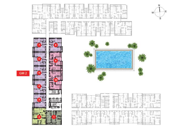 mặt bằng tầng 2 dự án Golden Mansion