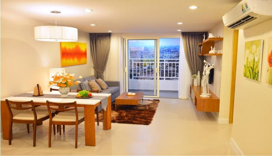 phòng ăn căn hộ the tresor