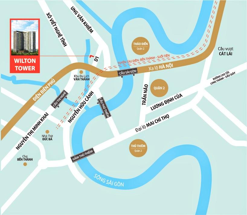 vị trí căn hộ wilton tower