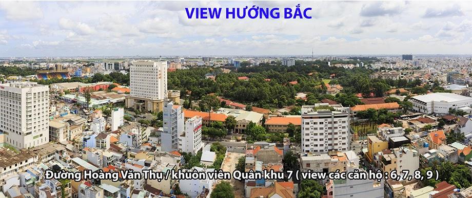 view hướng bắc căn hộ newton căn hộ newton - view huong Bac newton - Căn hộ Newton Residence