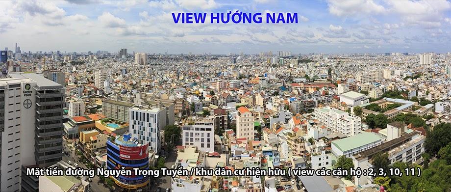 view hướng nam căn hộ newton căn hộ newton - view huong NAM newton - Căn hộ Newton Residence