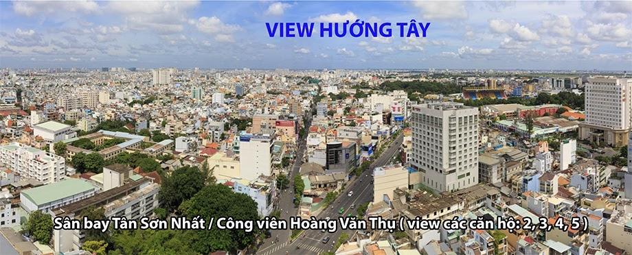 view hướng tây căn hộ newton căn hộ newton - view huong Tay newton - Căn hộ Newton Residence