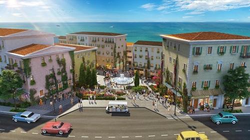 Dự án mang âm hưởng phong cách kiến trúc Địa Trung Hải, lấy cảm hứng từ thị trấn du lịch Almafi (Italy).  - sdfsdfg 6197 1560932894 - Giới đầu tư kỳ vọng đề xuất đưa P.Quốc lên TP