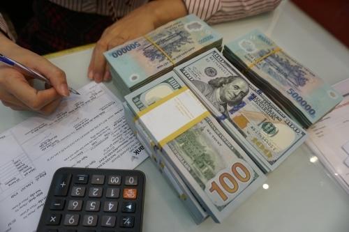 Giao dịch tại quầy một ngân hàng thương mại. Ảnh: Anh Tú  - DSC00225 JPG 8618 1565683796 - Tăng trưởng tín dụng năm nay khó cán đích