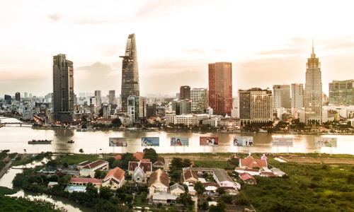 Thị trường bất động sản TP HCM. Ảnh: Lucas Nguyễn  - a tb bds trung tam tp hcm 9117 1573384369 - Giá đất thành phố Hồ Chí Minh tăng gấp ba sau mỗi thập niên