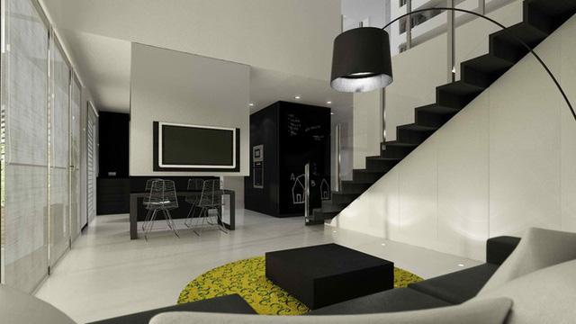 Căn hộ nội thất màu đen vô cùng huyền bí và sang trọng - Ảnh 6.  - photo 5 15783853356481991418415 - Chung cư nội thất màu đen vô cùng huyền bí và sang trọng