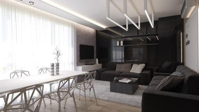 Căn hộ nội thất màu đen vô cùng huyền bí và sang trọng - Ảnh 9.  - photo 8 15783853356551506456503 - Chung cư nội thất màu đen vô cùng huyền bí và sang trọng